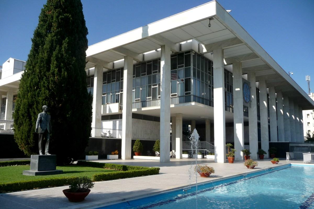 Αναβάθμιση περιμετρικής ασφάλειας Αμερικανικής Πρεσβείας Αθηνών
